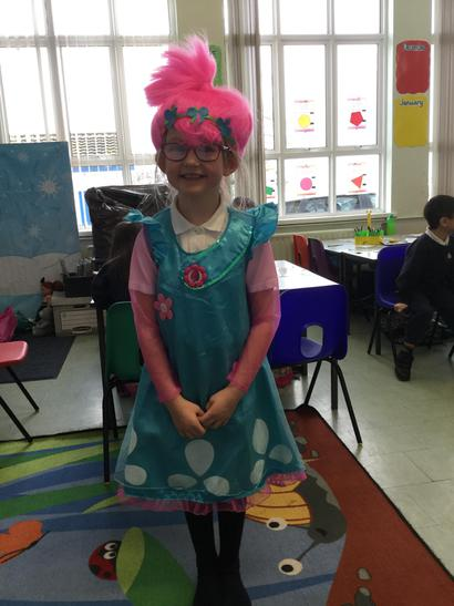 Lily was Poppy the troll!. Love the hair Lily!