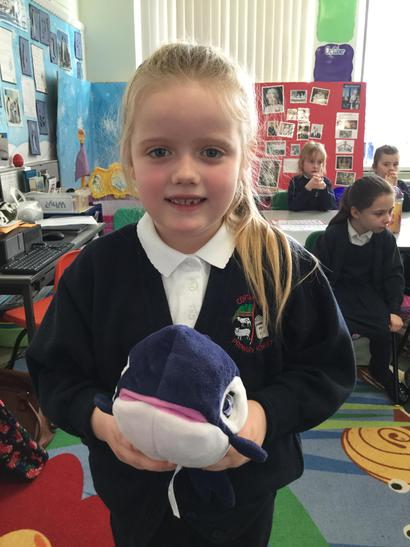 Rhomany introduced us to Connie the Whale.