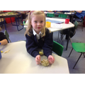 Evie was really pleased with her hedgehog.