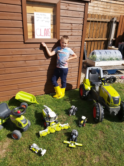 Thomas selling his Claas machinery.