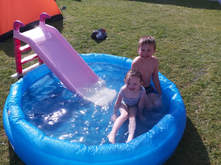 Cooling off in the pool!