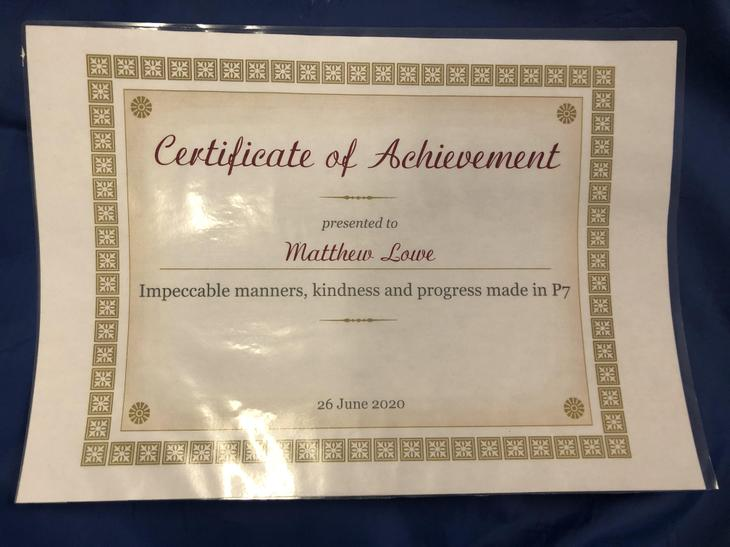 Matthew -Impeccable manners, kindness and progress