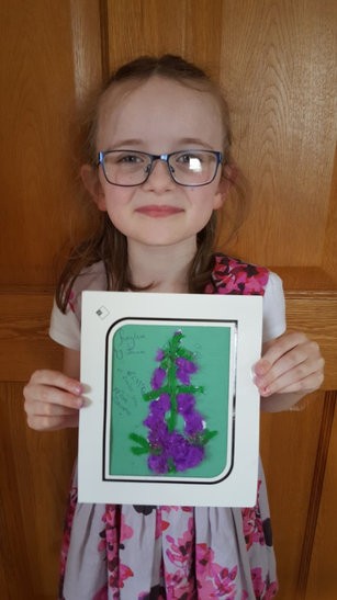 Joanna made this beautiful Foxglove collage.