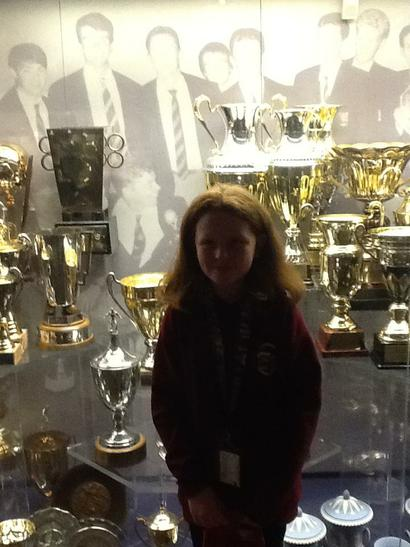 Abbie with all of the Silverware
