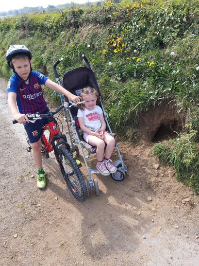 Thomas and Chloe found a rabbit burrow!