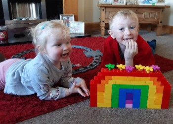 Jake and Hannah completed the lego challenge!