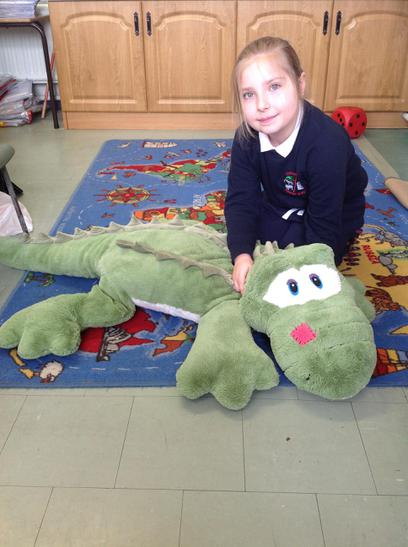 We were a little frightened of Ieva's crocodile!!