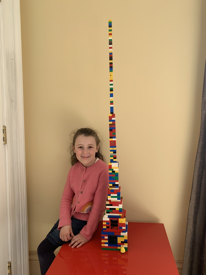 Amelia's world tallest tower lego challenge