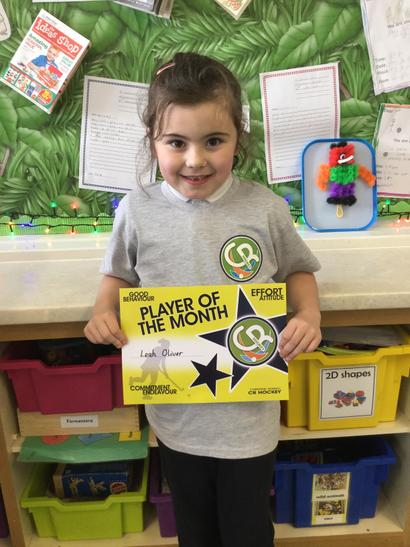 Well done Leah! Hockey player of the month!