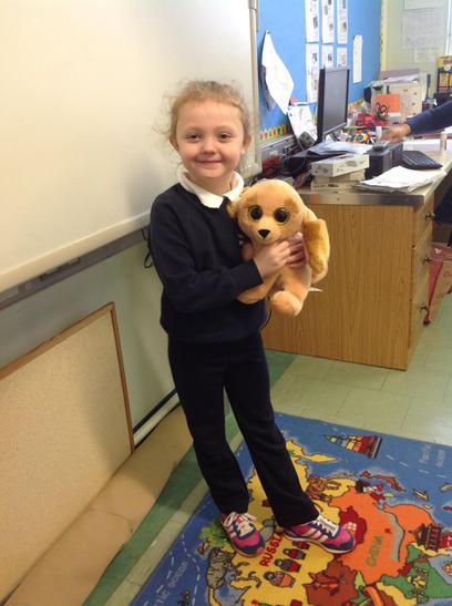 Lauren brought Paws to school to show us.
