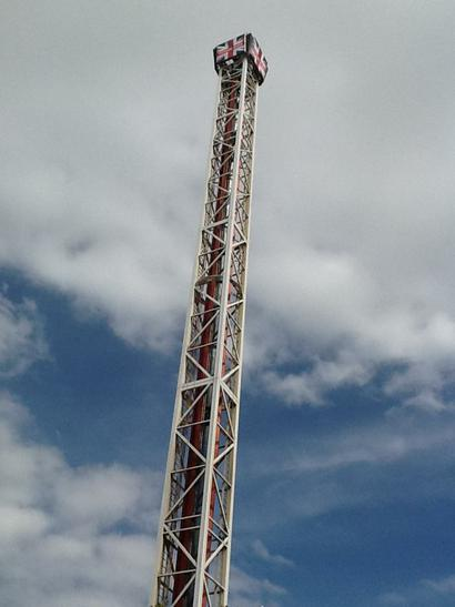 This is the Ice Blast ride at the Pleasure Beach