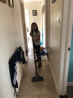 Busy with the hoover!