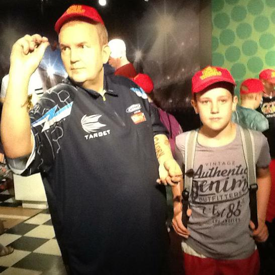 Josh with Phil ' the Power' Taylor