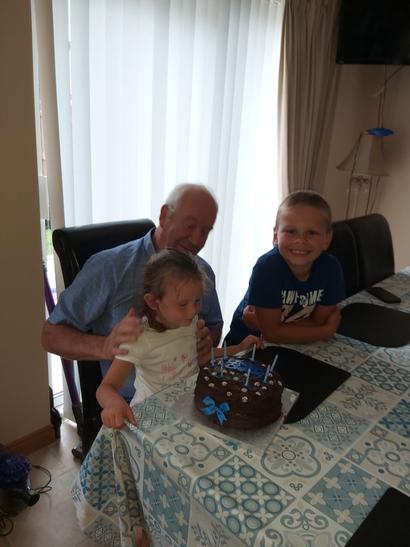 Thomas and Chloe celebrate Papa's birthday!