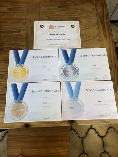 Well done Emily, what a selection of certificates!