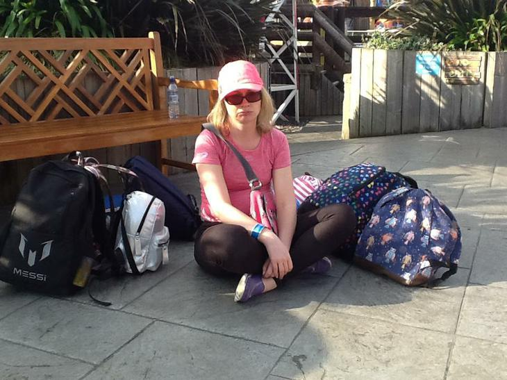 Me! Left with all the bags!