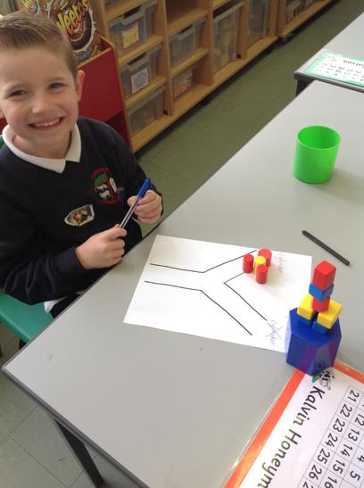 Kalvin is sorting 3d shapes