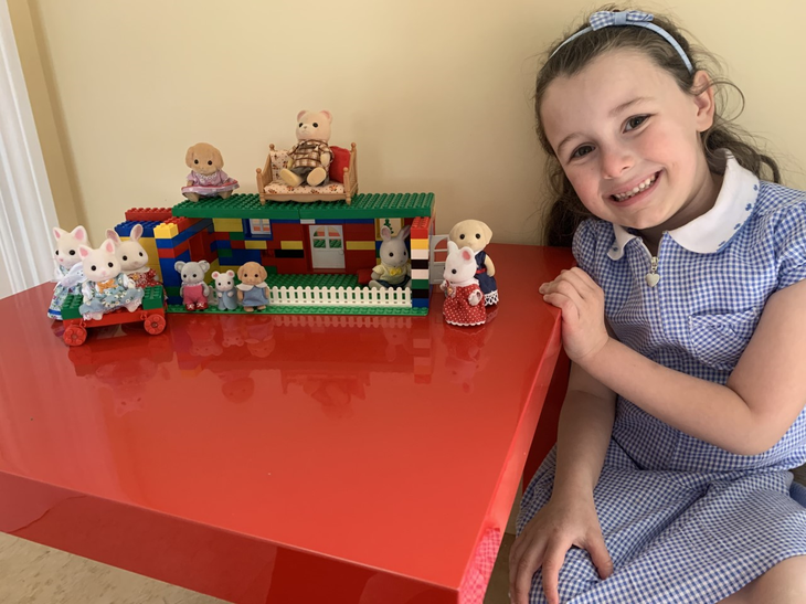 A beautiful Lego house Amelia