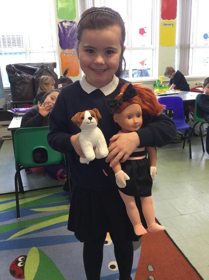 Leah had her Generation doll and her little dog.