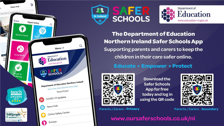 Please download the Safer School App.