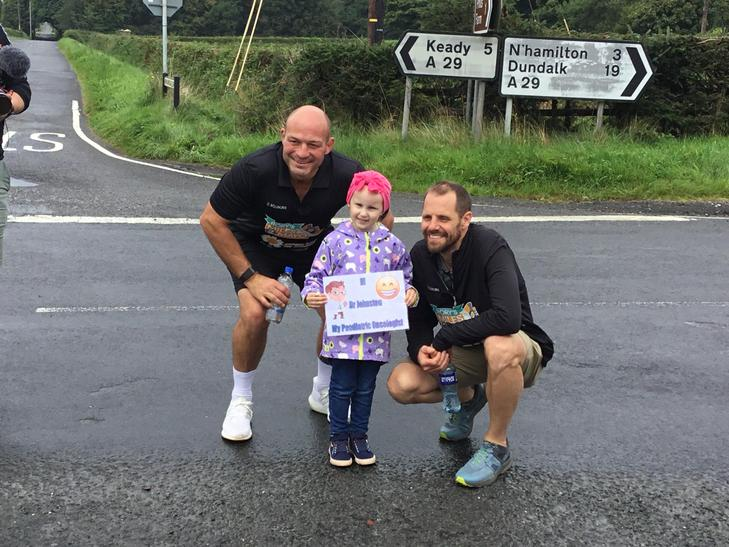 Grace with her Consultant Mr Johnston and Rory .