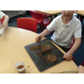 Create a long sausage shaped piece of clay...