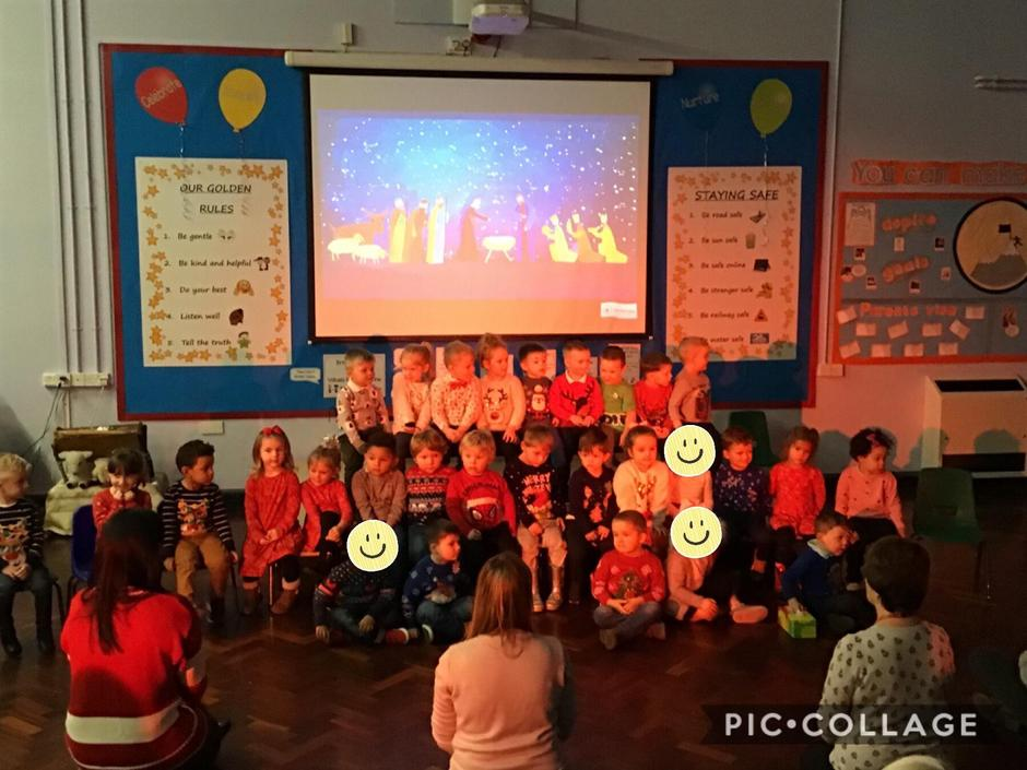 Performance by nursery pupils to parents
