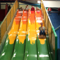 even the teacher braved the bumpy slide!