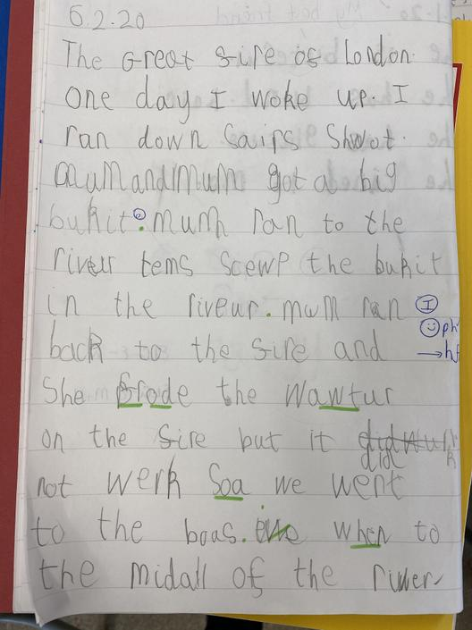 Extended writing with fabulous phonic choices