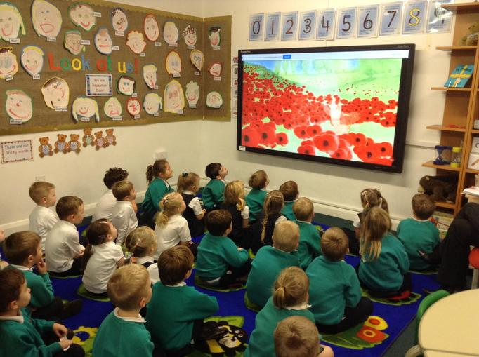 We watched a programme to help us understand the importance of Remembrance Day