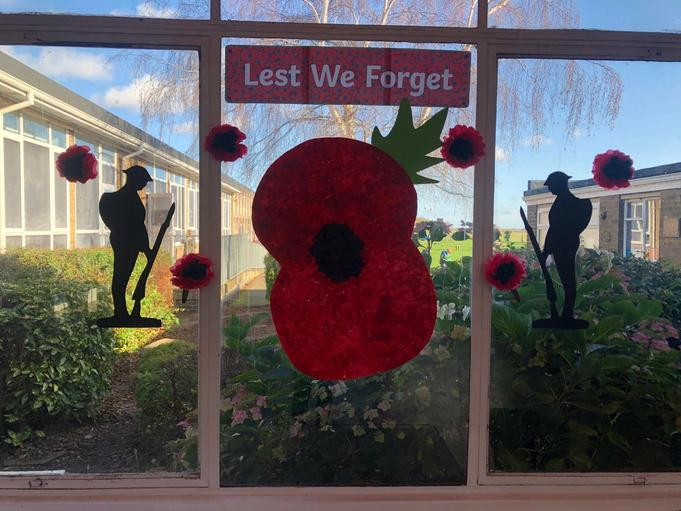 A beautiful display made by our CLOC members. We will remember them.