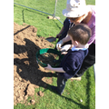 Sifting through dirt for finds!