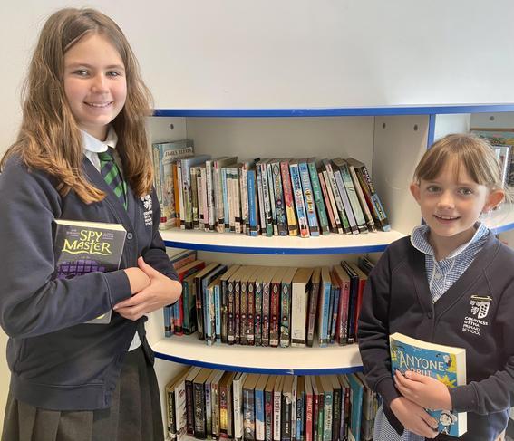 School Librarians Megan and Mia