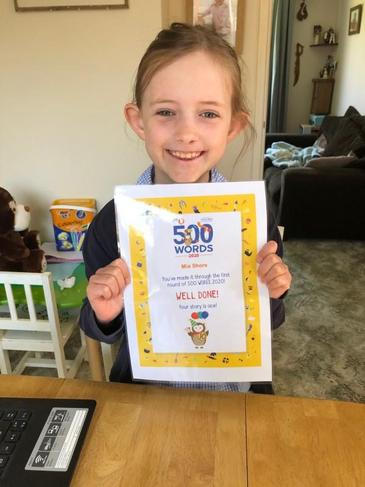 500 words BBC competition certificate