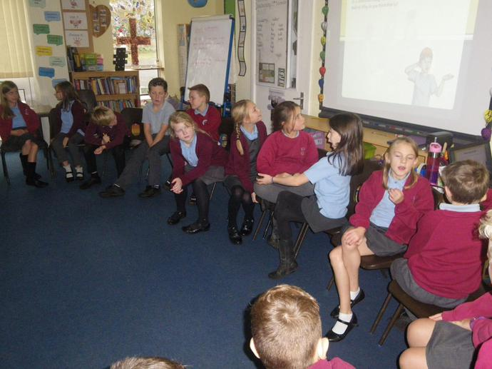 We talked about how we can stand up to bullies.