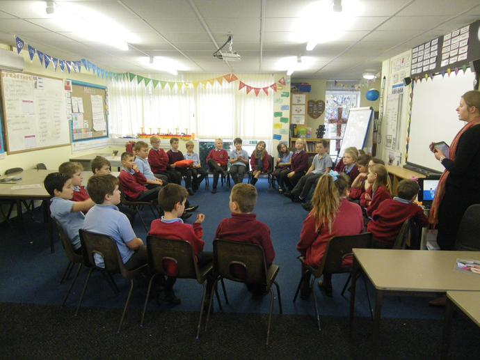 Miss Knight led us in a circle time discussion.