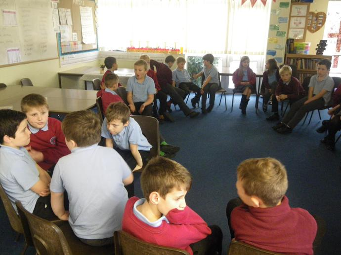 We spoke about different types of bullying.
