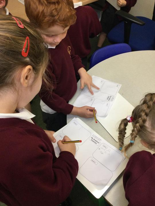 We drew pictures and labelled our findings.