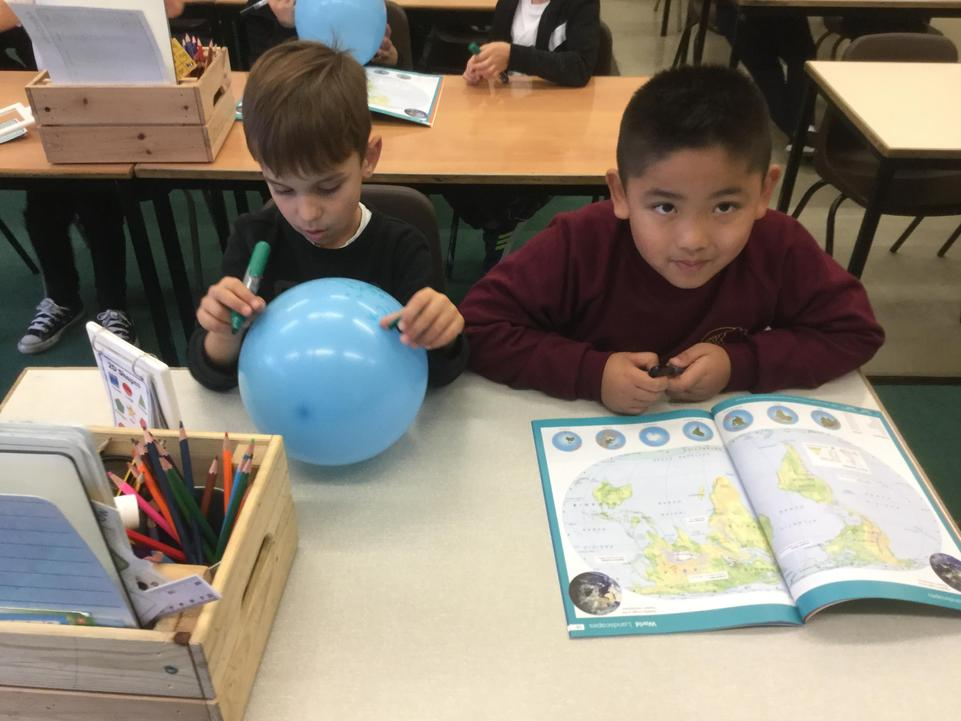 We looked at location of St Lucia using globes and atlases.