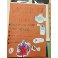 We made posters to explain how to stay safe in school and  to explain the school rules.
