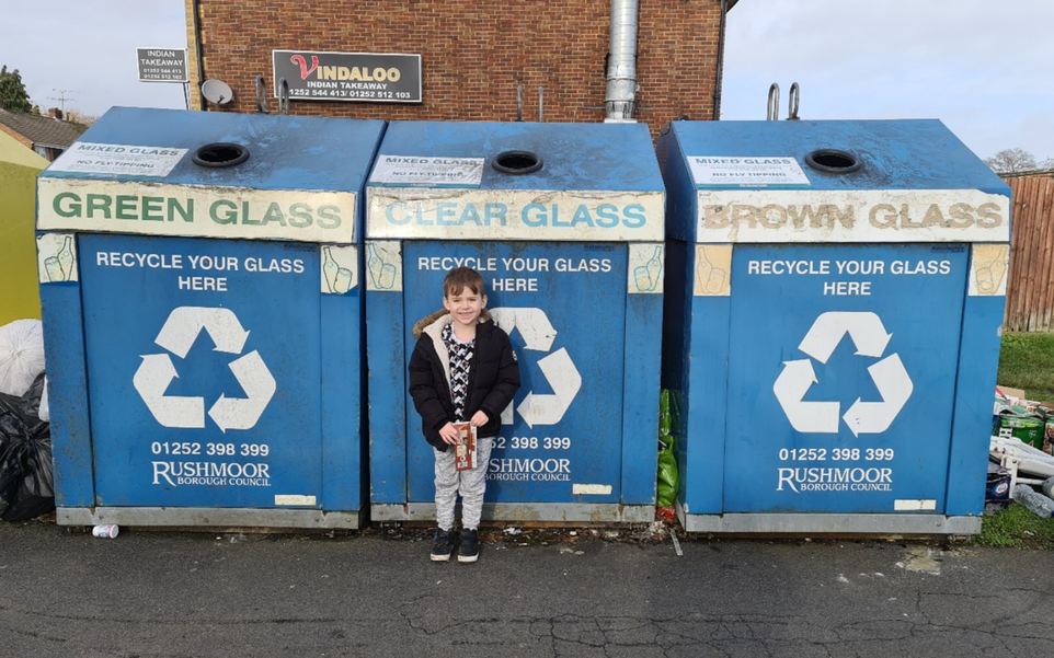 We went on walk to look at our local recycling centres.