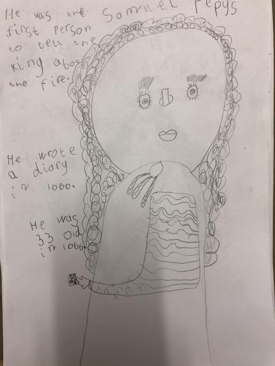 We have been learning about why Samuel Pepys is famous.
