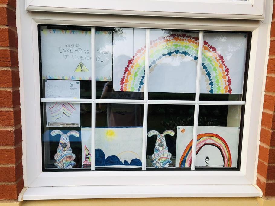 Vibrant window displays.
