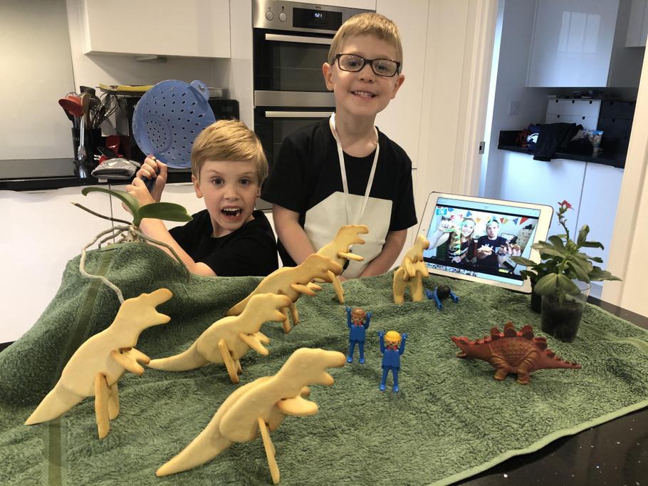 3D Dinosaur biscuits!