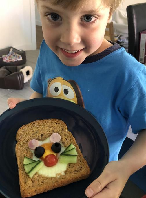 Amazing mouse toast!