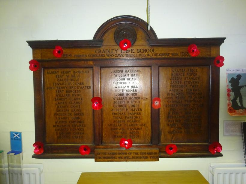 Remembering the former pupils of Cradley