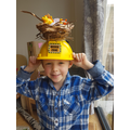 Joseph's super creative easter bonnet