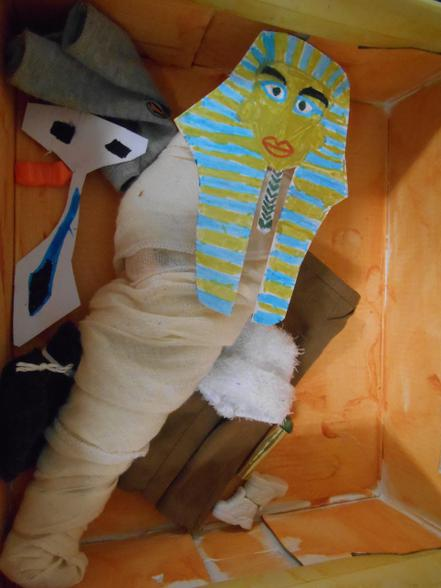 This mummy has lots of things for the after life.