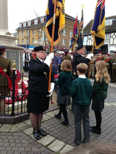 Laying our school wreath