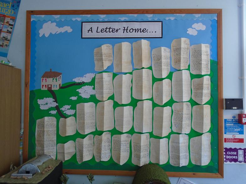Writing letters home
